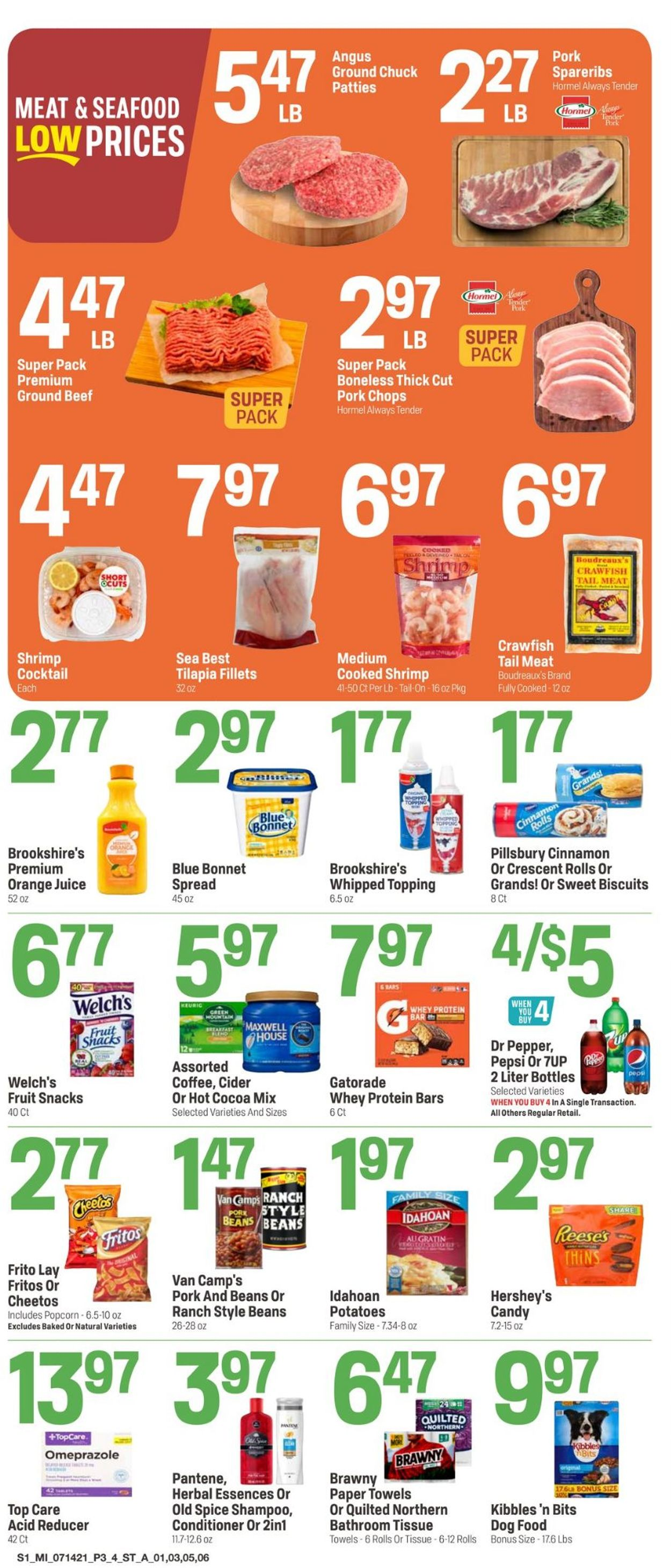 Catalogue Super 1 Foods from 07/14/2021