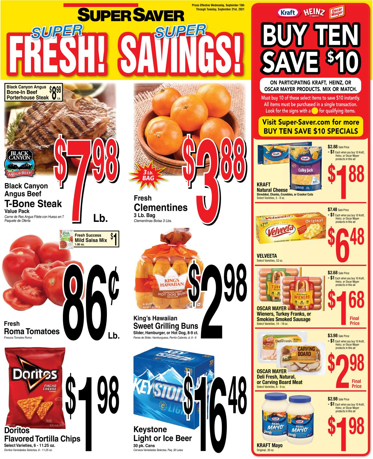 Catalogue Super Saver from 09/15/2021
