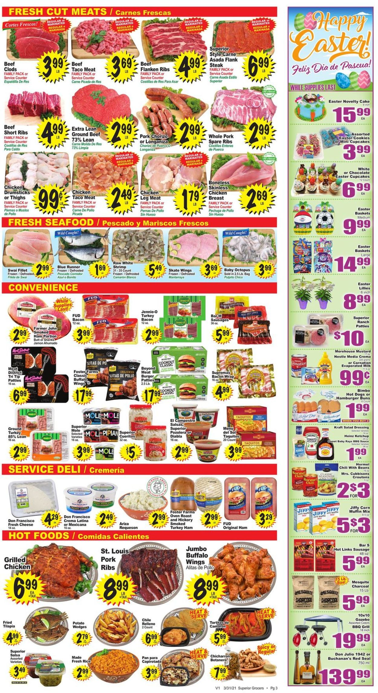 Catalogue Superior Grocers - Easter 2021 Ad from 03/31/2021