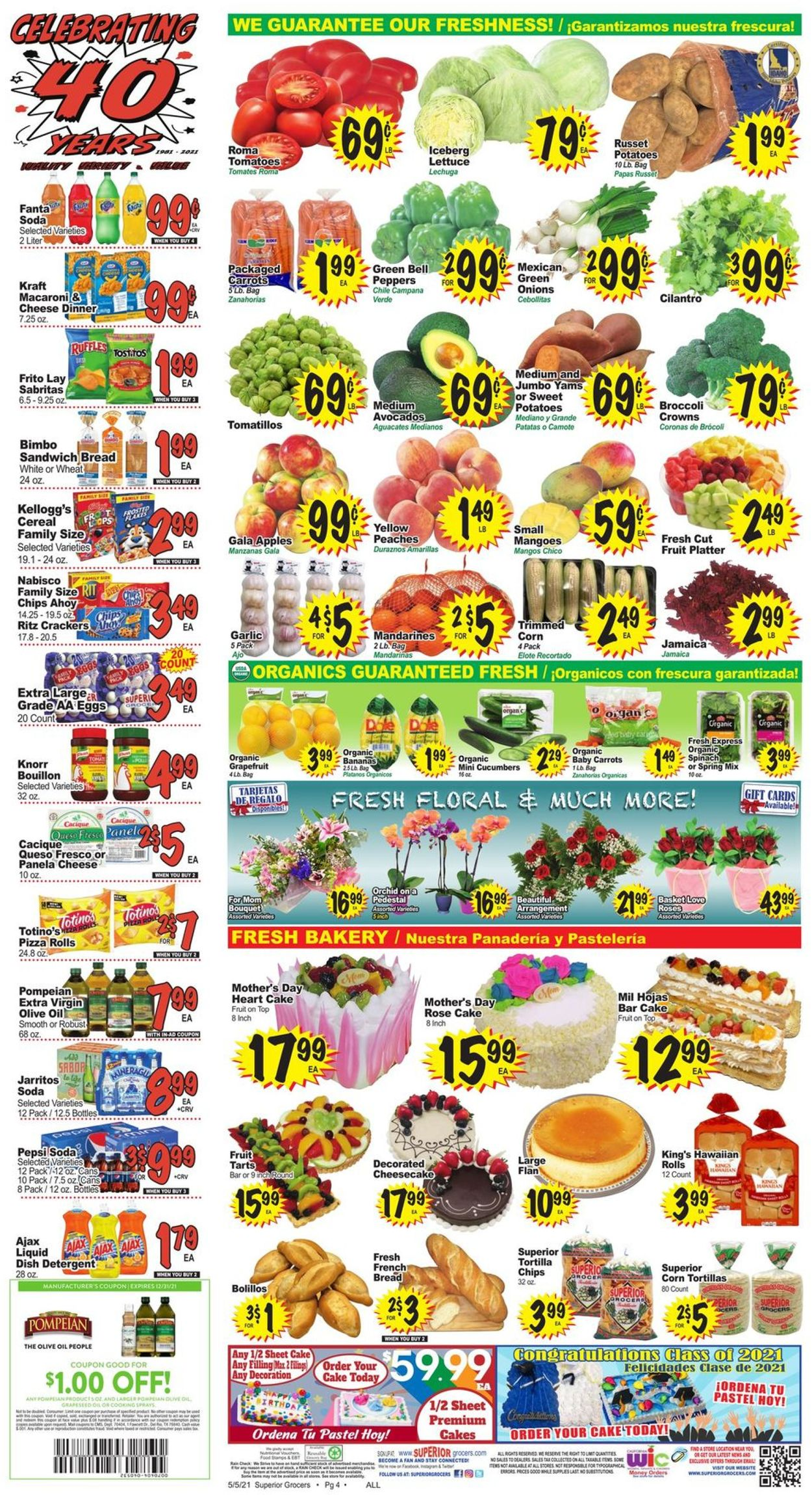 Catalogue Superior Grocers from 05/05/2021