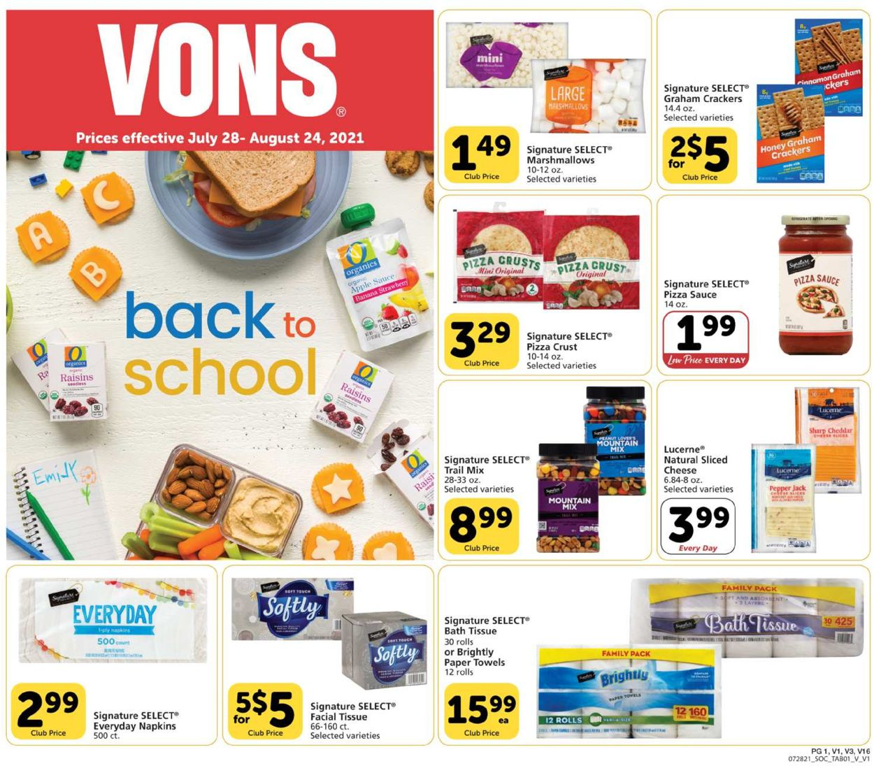 Catalogue Vons from 07/28/2021